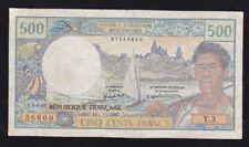 TAHITI -- PAPEETE --- 500  FRANCS  1985 ------ VG ------