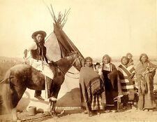 1891- Pine Ridge- Four Lakota Women Holding Infants Stand in front of Tipi