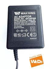 WAH HING AC ADAPTER B241-045F0060 DC4.5V 600mA UK PLUG