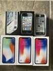 Empty Iphone Box Lot Of 6 With Inserts X - 3G S - 5 C - 4