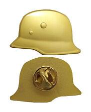 Stahlhelm M35 (Gold)   Wehrmacht Heer Luftwaffe Pin