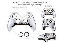 New Xbox One Elite Silver Chrome black rings Controller Soft Front Shell Unique
