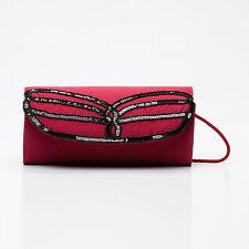 ALMATRICHI Sac pochette NEUF couleur rouge bordeaux et noir