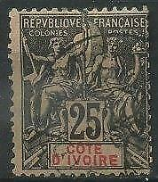 French Colonies, Cote d'Ivoire, Ivory Coast 1892 Michel 8 used