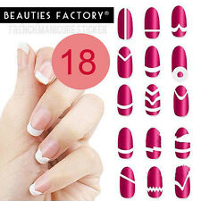 Paper nail art stencils ebay 18 styles french nail tips guide sticker assorted design stencil smile line 3010 prinsesfo Gallery