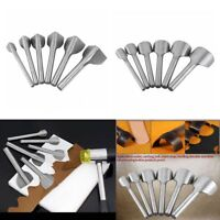 6X Leather Craft Tools Half-Round/V Shape Cutter Punch Set Strap Belt Wallet End
