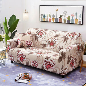1/2/3/4 Seater Stretch Sofa Slipcovers Couch Armchair Cover / 1X Pillowcase New