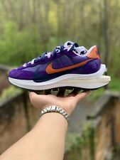 Nike Sacai VaporWaffle Dark Iris / Orange UK10.5/US11.5  | Fast Shipping