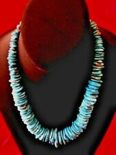 Sleeping Beauty Turquoise Necklace  with Sterling Silver Beads