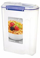 Sistema Klip It Cereal Container 4.2 L - Clear With Blue Clips