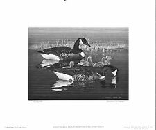 1976 Federal Duck Stamp Rw43 Canada Geese Etching Print by Alerson McGee