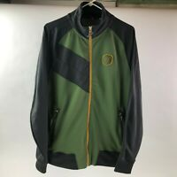 SAUCONY Mens Green/Gray Full Zip Front Pockets Running Track Jacket Size M