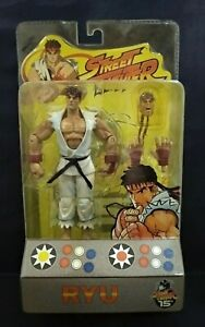 White Ryu Street Fighter Capcom Player Select Round 1 2004 Action figure Sota