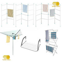 2 3 4 Tier Radiator Clothes Laundry Washing Foldable Drying Rack Indoor Outdoor