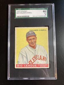 1933 Goudey #26 Chalmer Cissel SGC 60  EX 5 Tough Low Number