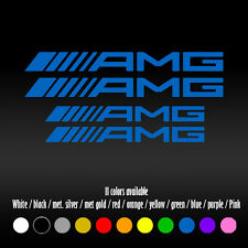 "5"" Straight AMG Mercedes Benz BBK Brake Caliper High Temp Vinyl Decal sticker"