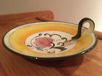 VTG Stangl Pottery Della Ware Laurita Ceramic Spoon Rest Holder Made in USA EUC
