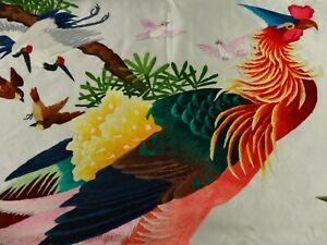 Handwoven Silk Chinese Embroidery - 100 Rainbow Birds (200 cm x 93 cm) #4