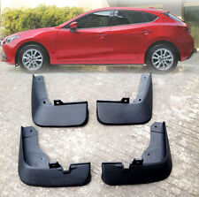 4PC FIT FOR 2014-2017 MAZDA 3 HATCHBACK SPLASH GUARD MUDGUARDS MUDFLAPS MUD FLAP