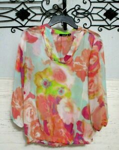 a.n.a Top Size M Long Sleeve Multicolored Summer Blouse