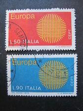 Italia MiNr. 1309-1310 EUROPA CEPT timbrato (N 160)