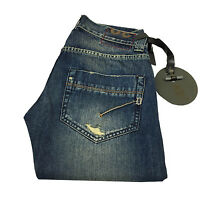 DONDUP jeans uomo mod JAR UP170 jeans strappato 100 % cotone MADE IN ITALY