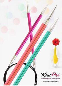 Knit Pro Zing Aluminium  Rundstricknadeln Stärke 2,0 - 12,0  Länge 40cm - 150cm