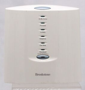 Brookstone Sound Soother Moments Sleep Enhance 6 Sounds Therapy White Noise