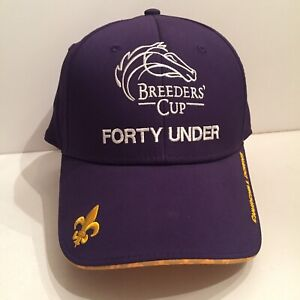 FORTY UNDER Breeders Cup 2018 Churchill Downs Baseball Hat Purple - Preowned