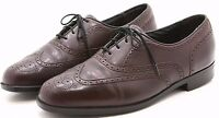 FLORSHEIM Mens Loafers Shoes 10.5 D Burgundy Leather Wingtip Oxfords Comfortech