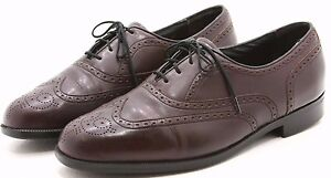 FLORSHEIM Mens Loafers Shoes 10.5 D Burgundy Leather Wingtip Oxfords Comfortech