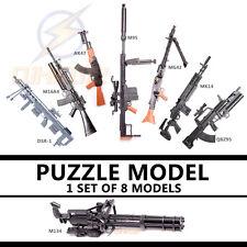 """1:6 1/6 12"""" Action Figures Weapon Gun M82A1 AK47 M14EBR M4A1 MG42 M16 M134 Set"""