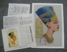 Nefertiti Latch Hook Rug Kit, a Readicut design in pure wool with colour chart