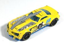 Hot Wheels Barbaric Demolition Derby Yellow Race Car 2013 Number 00 Size 1:64