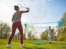 Badminton Komplettset Pop Up Netz Federball Koffer Spiel Sport