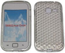 Para Samsung Galaxy Ace Duos Gt S6802 patrón Gel suave caso Protector Cubierta Claro