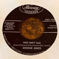 GEORGE JONES ~ Who Shot Sam ~ 1959 MERCURY 71464 ~ ROCKABILLY 45 VG+