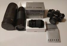 Minolta X-700 Manual Film Camera with MD 50mm f1.7 Lens in case and 70-210mm 5.6