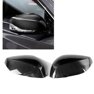 Real Carbon Fiber Side Mirror Add On Cover Caps For INFINITI Q50 Q70 2014-2017 A