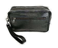 Dettagli su Pochette UOMO borsa a mano Busta 4 COLORI borsello nero blu grigio marrone D0629