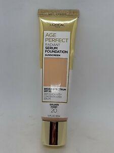 L'Oreal Paris Age Perfect Radiant Serum Foundation Liquid SPF 50 20 Golden Ivory