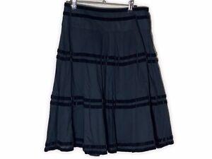 black midi skirt 10 By Marc's Velvet Trim