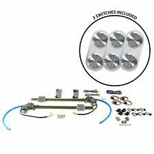 2-Dr Flat Glass Power Window Kit w/3 Daytona Billet Switches - No Illumination