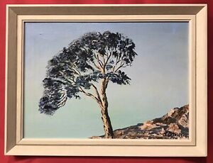 Original Irish Art Oil On Canvas Painting The Lone Tree Ireland By John O'Neill