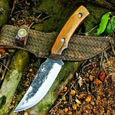 Trailing Point Knife Hunting Combat Jungle Survival Tactical Forged Steel Wood S