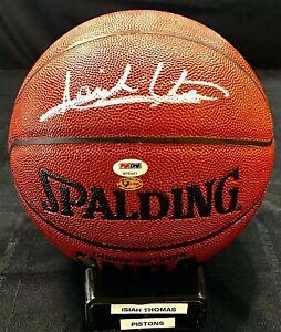 Isiah Thomas Signed NBA Spalding Basketball Detroit Pistons Comes PSA/DNA