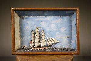 Wonderful 19th Century English Antique Ship Diorama