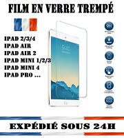 iPad 1/2/3/4/5/6/Mini/Air - VITRE DE PROTECTION EN VERRE TREMPÉ FILM ECRAN LCD