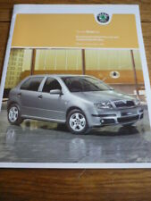 SKODA FABIA SPECIFICATIONS & PRICE LIST BROCHURE SEPT. 2004
