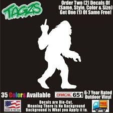 Sasquatch Bigfoot F**k Off Funny DieCut Vinyl Window Decal Sticker Car Truck